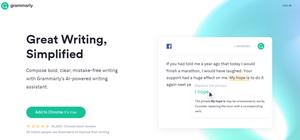 Grammarly browser plugin