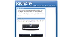 Launchy website
