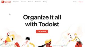 Todoist website screen shot
