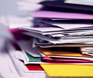 Piles of paperwork due to billing