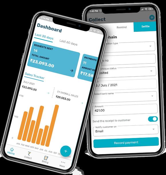 Free billing app screen shots
