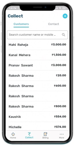 Pending collections view
